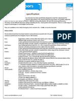 Fire Rated Steel Door Specification