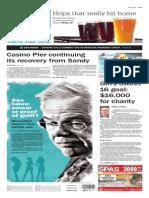 Asbury Park Press front page Monday, Aug. 31 2015
