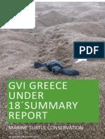 GVI Greece U18's summary report 2015 season