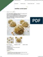Boulettes de Lentilles Corail (Sans Oeuf) _ Cocotte Et BiscotteCocotte Et Biscotte