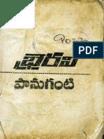 Bhairavi - a Telugu novel