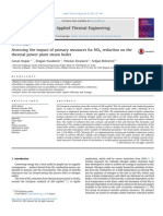 Assessing the impact of primary measures for NOx reduction on the thermal power plant steam boiler