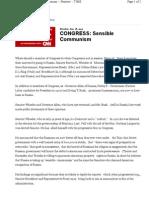 CONGRESS Sensible Communism Time Magazine 1923