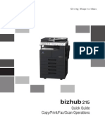 Bizhub 215 Qg Copy Print Fax Scan Operations en 1 1 0
