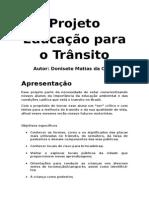 Projeto Educação Para o Trânsito