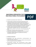 Masterra Hezkuntza Testuinguru Multikultural Eta Eleaniztunetan
