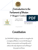 A brief introduction to the Parliament of Bhutan