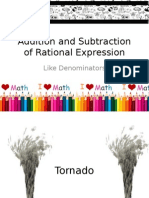 Addition and Subtraction of Rational Expression
