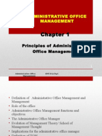 Chapter 1 Latest Principle of Administrative Office Mgt