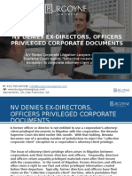 Nv Denies Ex-directors, Officers Privileged Corporate Documents