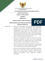 PERATURAN MENTERI PEKERJAAN UMUM DAN PERUMAHAN RAKYAT NOMOR  27/PRT/M/2015 TENTANG BENDUNGAN