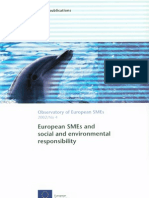 European SMEs and social and environmental responsibility