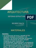Materiales y Sistemas Estructurales-2015