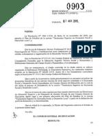 Resolución  o Curricular Tecnicatura ES y DL