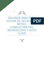 Balanza analitica, Estufa de secado etc..docx