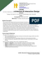 Interaction Design Syllabus Pratt