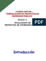 Diapositivas Del Módulo de Evaluación de Proyectos - OTAMDEGRL CR