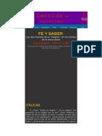 Fe y Saber - Las Dos Fuentes de La Religión en Los Límites de La Mera Razón