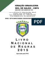 FUTSAL - Livro Nacional de Regras 2015