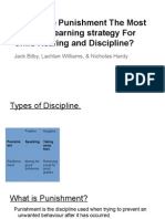 is punishment an effective or appropriate learning strategy for child rearing