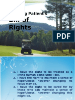 The Dying Patient's Bill of Rights