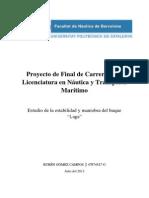 PFC - Estudio de La Estabilidad y Maniobra Del Buque Laga