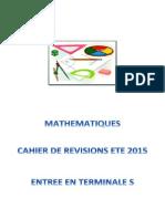 Cahier de vacances maths pour terminale S