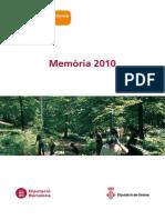Memoria Montseny 2010