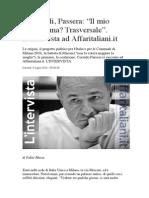 Comunali, Passera- _Il Mio Programma_ Trasversale_.