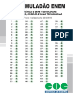 Gabarito s7 Sim Enem Matemática e Tecnologias 2013
