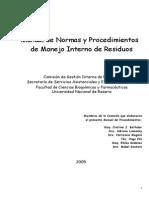 Manual Normas y Procedimientos de Manejo de Residuos FCByF PAME