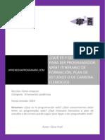 CE00302D Que Estudiar Para Ser Programador Web Itinerario Formativo