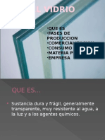 fabricacion  del Vidrio