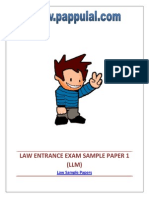 Law Entrance Exam Sample Paper 1