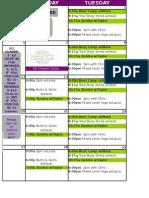 FNT SEPT Class Schedule