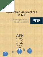 Conversion Afn a Afd