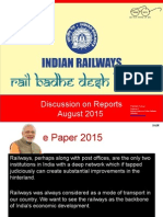 Railway Reports Discussion-Rajnish Kumar