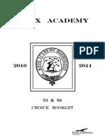 S5-6 Course Choice 2010-2011