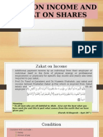zakat on share and income
