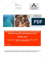 Management of Programmes for Communicable Diseases Control in Sub-Saharan Africa