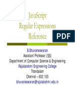 JavaScript Regular Expressions - Reference