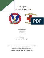 Laporan Kasus appendicitis