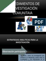 Cuatro Tipos de Observación Participante Psicologia Comunitaria