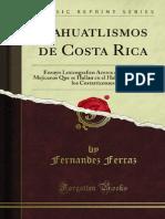 Nahuatlismos de Costa Rica