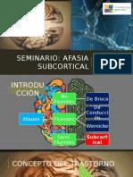 Afasia Subcortical