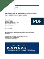 Implementation of the 2002 AASHTO Design Guide