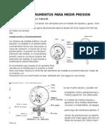 Instrumentos de medición de presión y flujo