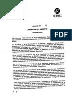 Acuerdo 21 del Ministerio del Ambiente