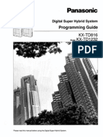 Panasonic KX-TD 816-1232 Programming