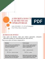 FMM Aula 13-11-2012 Técnicas Operatorias